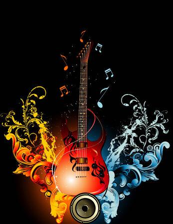 abstract music: vector muziek illustratie