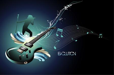 vector music illustration Vector