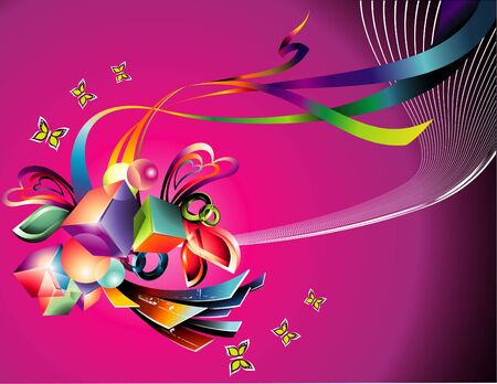 abstract background illustration Stock Vector - 9153401