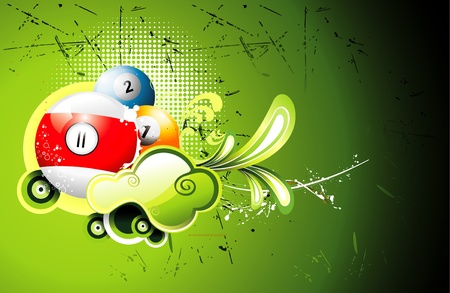 billiard ball: sport illustration