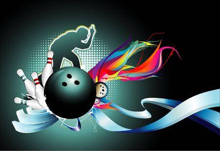 bowling: Ilustraci�n de deporte