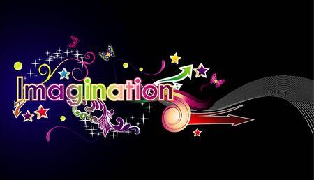 imagination text illustration Stock Vector - 9294815