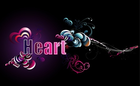 heart with text: heart text illustration Illustration