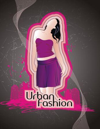 moda urbana: Moda Urbana Vectores
