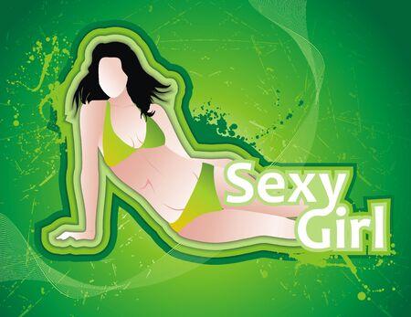sexy meisje: sexy meisje Stock Illustratie