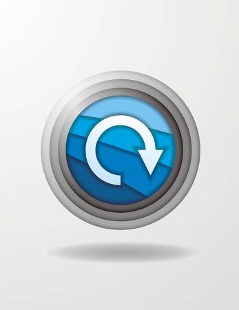 circulating: reload icon Illustration