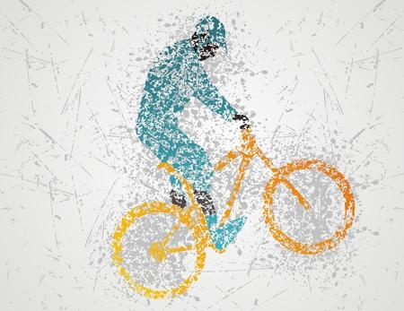 mountain bike design Vector