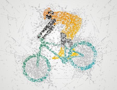 mtb: biclycling sport Illustration