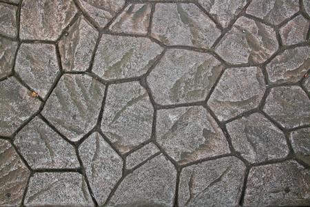 cobble: Mattonelle di pavimentazione naturale Rock Archivio Fotografico