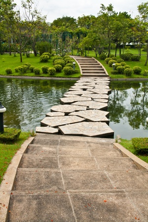bridge over water: Stepping Stone Pathway