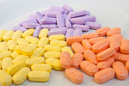 Supplementary Vitamin pills Stock Photo