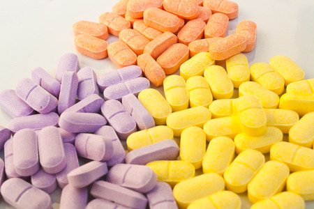 cofactor: Supplementary Vitamin pills Stock Photo