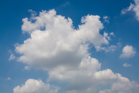 Beautiful Blue Sky with White Clouds Wallpaper photo