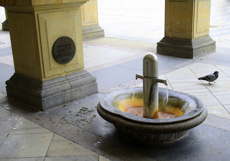 Thermal mineral spring number 8 in Karlovy Vary in the Czech Republic