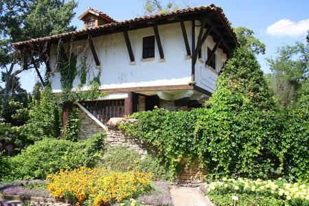 Stone old house in the botanical garden, Balchik, Bulgaria