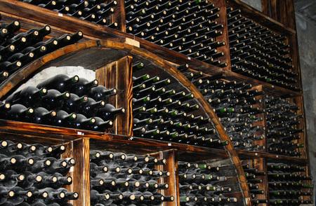 ARENI, ARMENIA - December 06, 2018: Areni winery factory interior, traditional Armenian wine factory. Wine Cellar Storage. Redakční