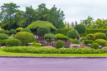 Topiary beautiful garden for relaxation in King Rama 9, Bangkok, Thailand