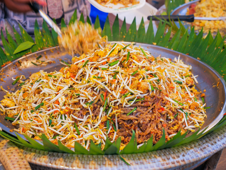 Pad thai, Stir fry noodles in  thai style, Famous Thai traditional food.