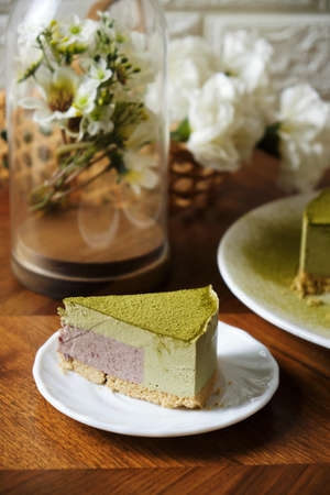 Greentea Matcha Mousse cake.