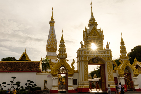 The sun shines at Thatuphanom pagoda