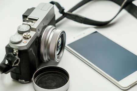 Cámara digital  Foto de archivo