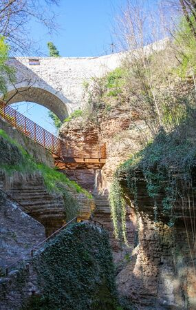 Ponte Alto horror in Trento Stock fotó
