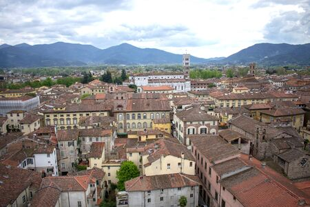 View of Lucca from Giunigi tower
