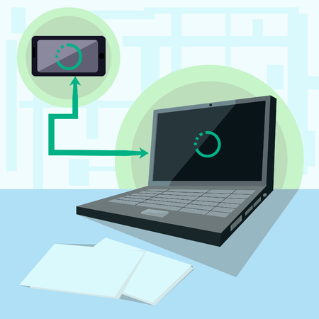 Forwarding files and documents from your smartphone to your laptop via wireless data transfer
