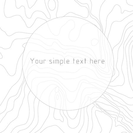 Abstract frame with ornate lines of drawing on a white background for your presentation
