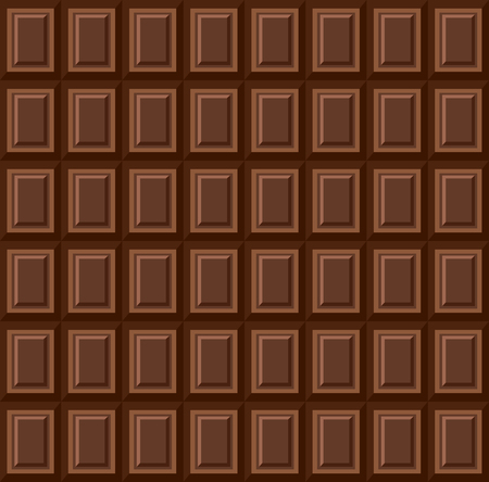 Seamless pattern - tiles of dark milk chocolate. Background texture for wallpaper, wrapper, cover and packaging of desserts. World chocolate day Иллюстрация