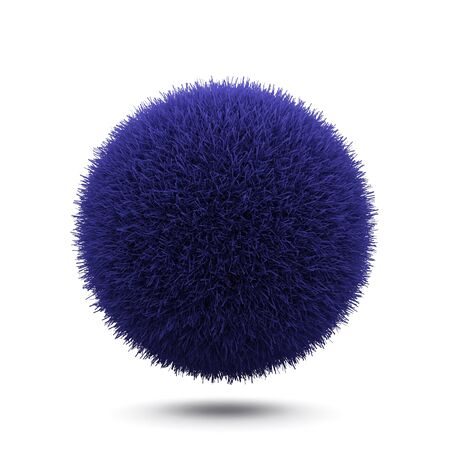 3d flower: Grass sphere isolated on a white background.