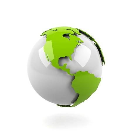 mexiko karte: Planet Erde auf wei�em Hintergrund.