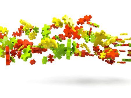Puzzle background  photo