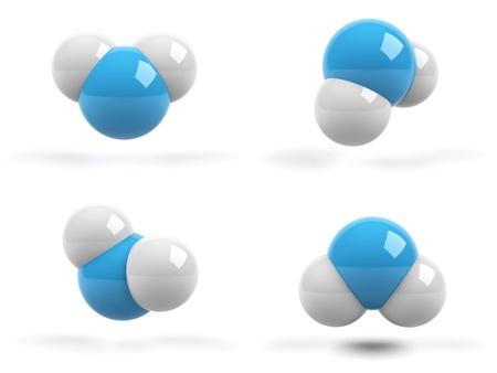 molecula de agua: moléculas en el fondo blanco