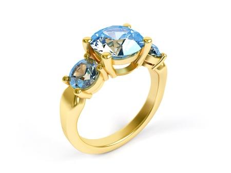 Joyería anillo aislado en un fondo blanco.