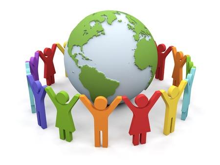 World partnership  3d image isolated on white background   Stockfoto