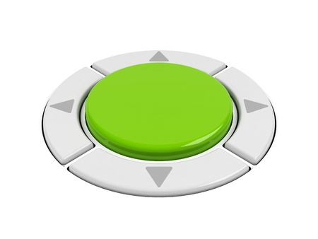 command button: Control buttons on a white  Stock Photo
