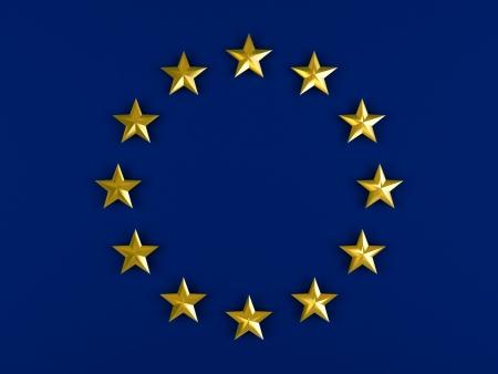 vintage flag: Twelve golden stars isolated