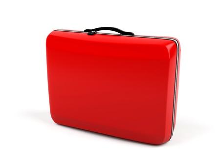 Suitcase isolated on a white background   photo