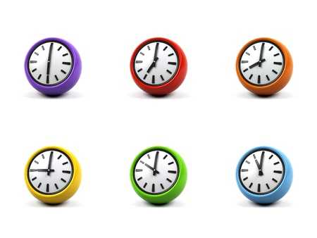 3d clock on a white background. Stock Photo - 15103228