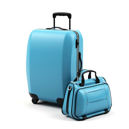 carryall: Suitcases isolated on a white background.