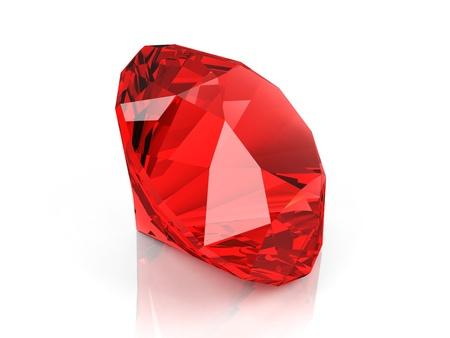 talismán: Diamante de cristal aislado en fondo blanco Foto de archivo