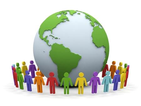 World partnership  3d image isolated on white background   Stock Photo