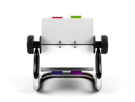 Organizer isolated on a white background