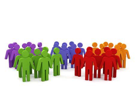 distinguish: Groups of people.  Stock Photo