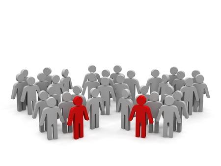 Groups of people.  Stockfoto