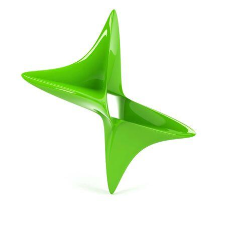 splice: 3d abstract symbol.