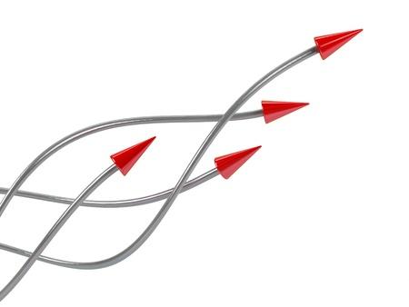 different ways: Arrows.