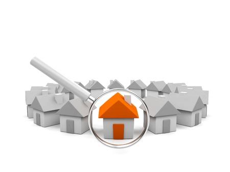 logements: Maison sous la loupe.