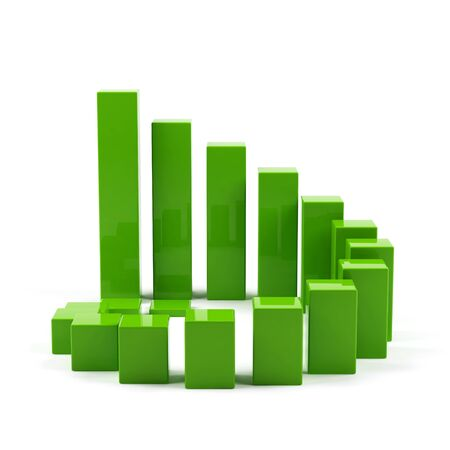 3d graph. Stock Photo - 15325595